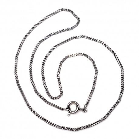 Cadena metal rodiado 40 cm. barbada [1831]