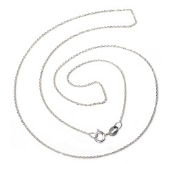 Cadena plata Ley 50 cm. forzada ligera [5211]
