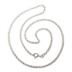 Cadena plata ley 925m 45cm. rolo unisex cierre reasa