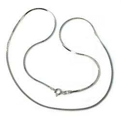 Cadena plata Ley 925m 40 cm. cola topo lisa cuadrada mujer cierre reasa