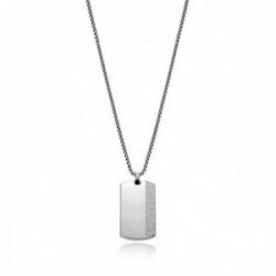 Collar acero Real Madrid Viceroy 15021C01010 cadena 50cm. colgante placa grabada mate brillo