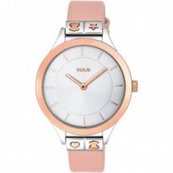 Reloj Tous mujer Lord 900350145 acero IP rosado detalles oso corazón estrella correa piel nude