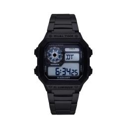 Reloj Radiant hombre Zuri digital RA505203 negro esfera cuadrada [AC1692]