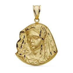 Colgante oro 18k Virgen Macarena 28mm. [AA7387]
