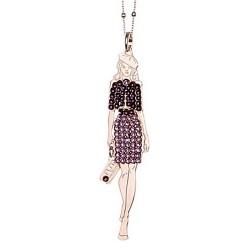 Colgante collar BOCCADAMO muñeca vestido piedras Swarovski [AB1933]