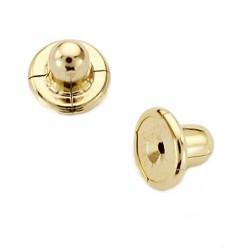 Fornitura oro 18k presión tuerca 4mm. rosca tornillo 1 unidad [AB3677]