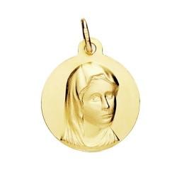 Medalla oro 18k María Francesa 16mm. [AB3717GR]