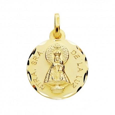 Medalla oro 18k escapulario Señora de la Luz 16mm. [AB3759]