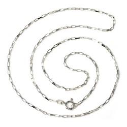 Cadena plata ley 925m 50cm. forzada unisex cierre reasa