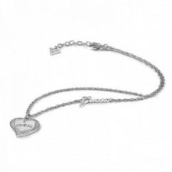 Gargantilla Guess Heart Warming UBN78068 acero inoxidable quirúrgico 41cm. chapado rodio corazón