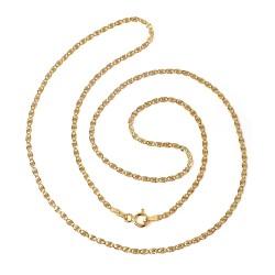 Cadena oro 18k maciza diamantada 45 cm. ancho 2 mm. cierre reasa