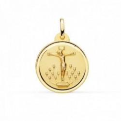 Medalla oro 18k Cristo de la Laguna 20mm. bisel liso