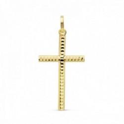 Colgante oro 18k cruz 24mm. formas talladas