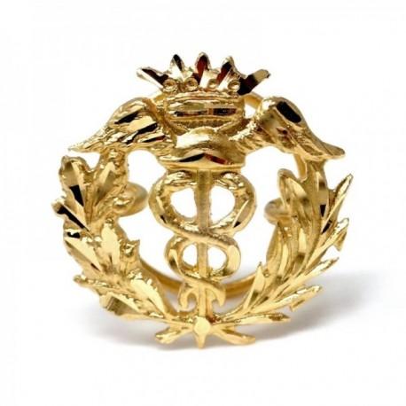 Insignia profesional Comercio oro 18k escudo pin solapa 16mm.