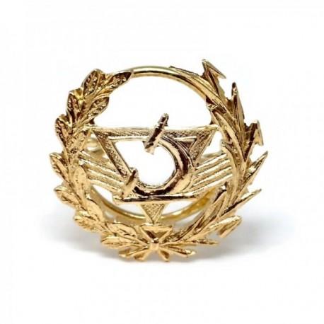 Insignia profesional Óptico oro 18k escudo pin solapa 16mm.