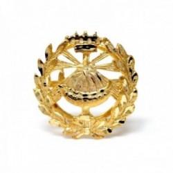Insignia profesional Química oro 18k escudo pin solapa 15mm.