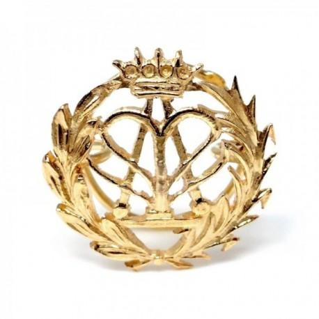 Insignia profesional Física oro 18k escudo pin solapa 16mm.