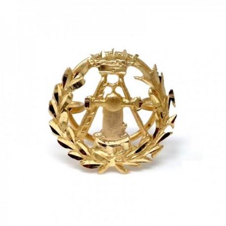 Insignia profesional Topografía oro 18k escudo pin solapa 16mm.