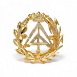 Insignia profesional Aparejador oro 18k escudo pin solapa 16mm.