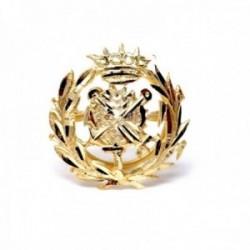 Insignia profesional Empresariales oro 18k escudo pin solapa 17mm.