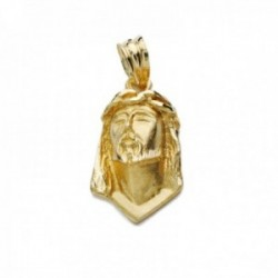 Colgante oro 18k cabeza 22mm. Cristo de Lágrima tallado