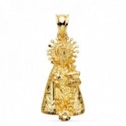 Colgante oro 18k silueta 31mm. Virgen de los Desamparados