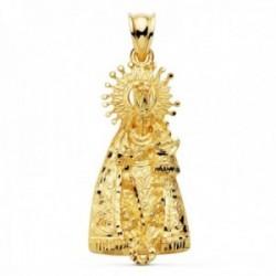 Colgante oro 18k silueta 36mm. Virgen de los Desamparados