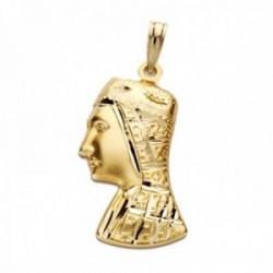 Colgante oro 18k silueta 27mm. Virgen de Montserrat
