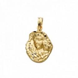 Colgante oro 18k silueta 20mm. Virgen Esperanza de Triana tallado