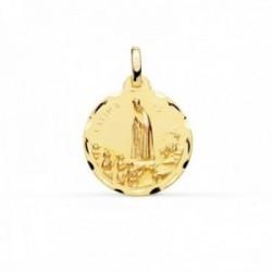 Medalla oro 18k Virgen de Fátima 18mm. borde tallado