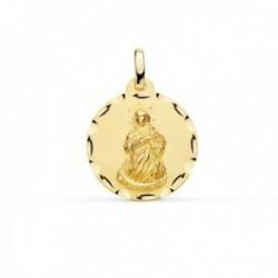 Medalla oro 18k Virgen Inmaculada 18mm. borde tallado