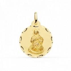 Medalla oro 18k Virgen Inmaculada 22mm. borde tallado