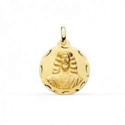 Medalla oro 18k Cristo de Medinaceli 18mm. borde tallado