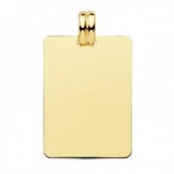 Colgante oro 9k chapa 28mm. lisa rectangular reasa forma
