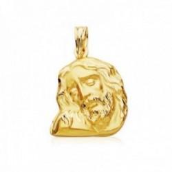 Colgante oro 9k 20mm. cabeza rostro de Cristo detalles tallados