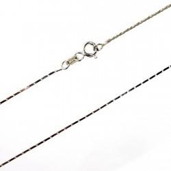 Cadena plata Ley 45 cm. cobra cuadrada [0773]