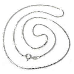 Cadena plata Ley 925m 45cm. modelo veneciana unisex cierre reasa