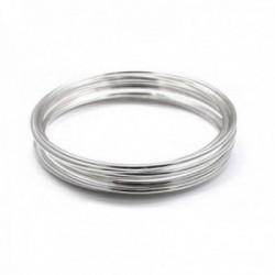 Pulsera plata Ley 925m semanario 7 aros liso 65mm. redondo ancho 2mm. brazalete