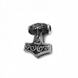 Colgante plata Ley 925m oxidada 23mm. martillo Thor formas detalles