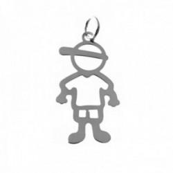 Colgante plata Ley 925m liso 35mm. niño calado gorra