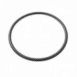 Pulsera plata Ley 925m rígida brazalete 60mm. oxidada formas