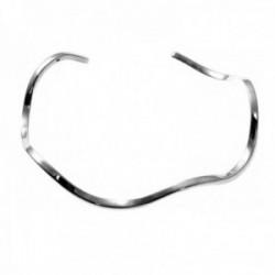 Pulsera brazalete plata Ley 925m rígida 60mm. abierta lisa forma ondulada