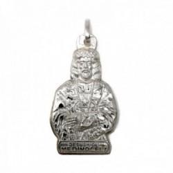 Colgante plata Ley 925m silueta 29mm. imagen Cristo de Medinaceli detalles labrados