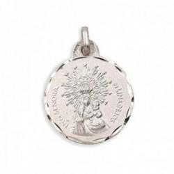 Medalla plata Ley 925m Virgen de Linarejos 19mm. cerco tallado