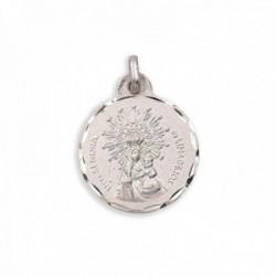 Medalla plata Ley 925m Virgen de Linarejos 15mm. cerco tallado