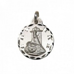 Medalla plata Ley 925m Virgen de las Angustias 19mm. cerco tallado