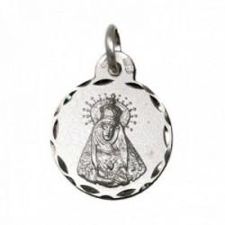 Medalla plata Ley 925m Virgen de los Dolores 17mm. cerco tallado