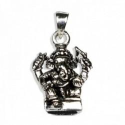 Colgante plata Ley 925m. Ganesha 15mm. elefante sagrado amuleto suerte unisex