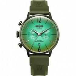 Reloj Welder Moody hombre WWRC519 Dual Time esfera lente fotocromática correa caucho