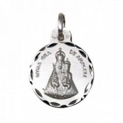 Medalla plata Ley 925m Nuestra Señora de Araceli 17mm. cerco tallado